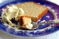TIK Orange & Cardamon Yoghurt Loaf Cake - with cream