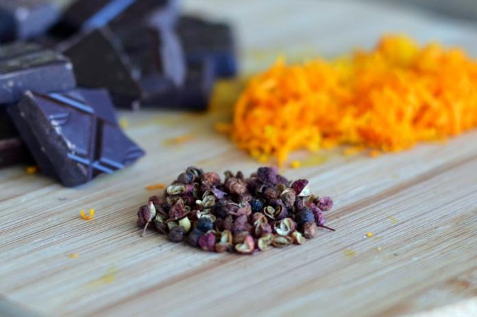 Hot Chocolate, Orange & Szechuan Pudding - TIK
