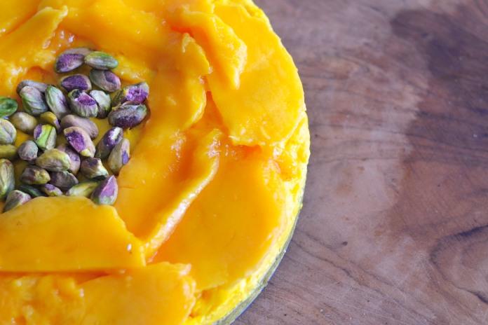 TIK - Mango, Saffron & Pistachio Cheesecake