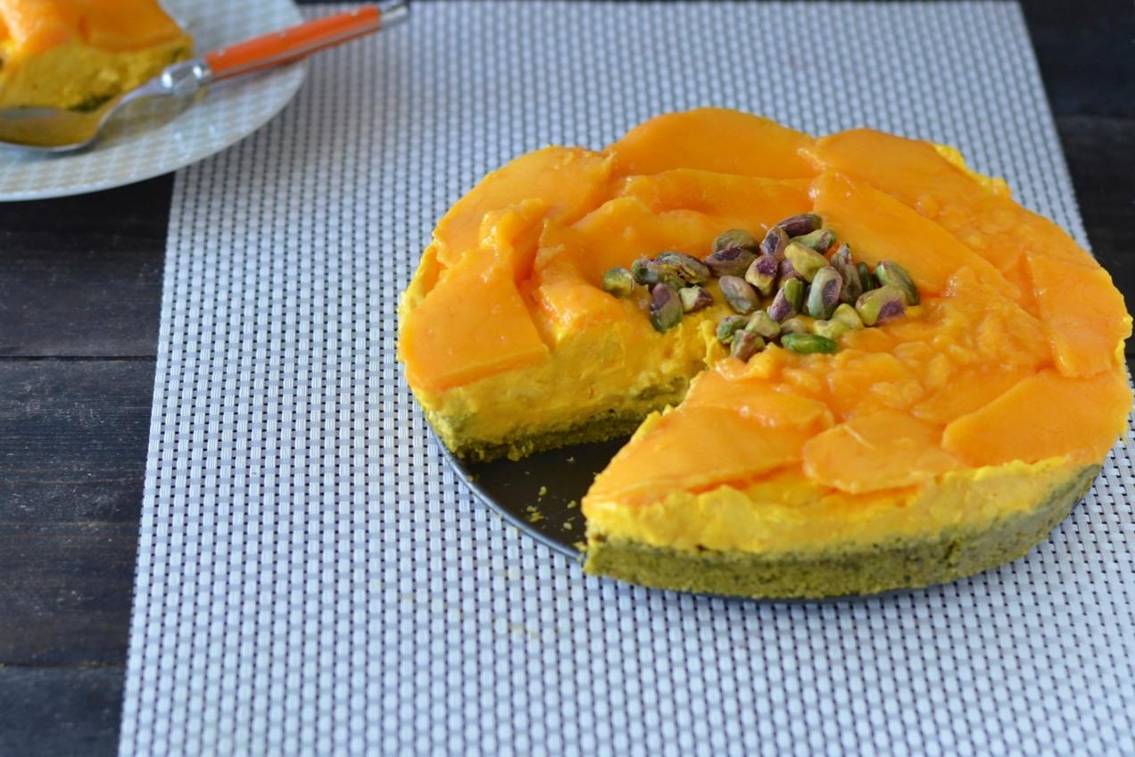 ... Dancing / Mango, Saffron & Pistachio Cheesecake {gluten free