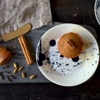 Four Small Steps to a Big Life / Pecan & Chai Spiced Hot Milk Cakes